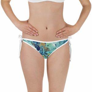 Blue Ivy / Cherry Bomb Reversible Bikini Bottom