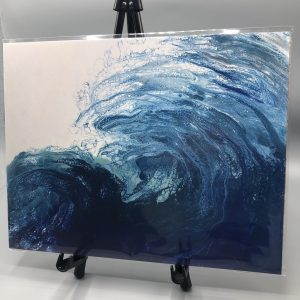 Abstract art wave