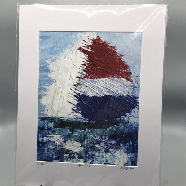 boat spinnaker art