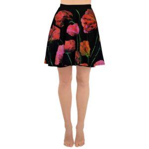 Paper Flowers Skater Skirt