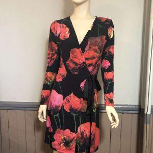 Recherché Wrap Dress – Paper Flowers