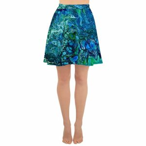 Under the Sea Flared Skater Skirt