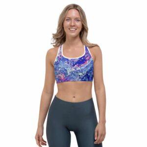 Coral Bloom Sports bra