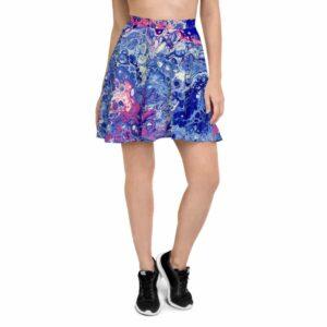 Coral Bloom Skater Skirt